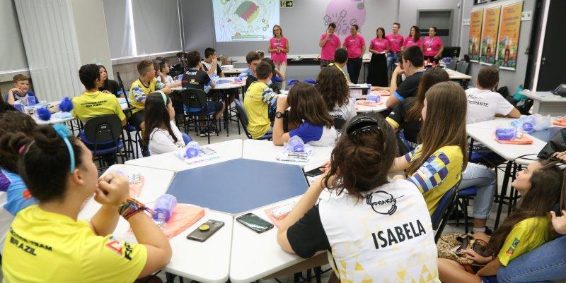 Amistoso de robóticana Escola Sesi de Gravataí